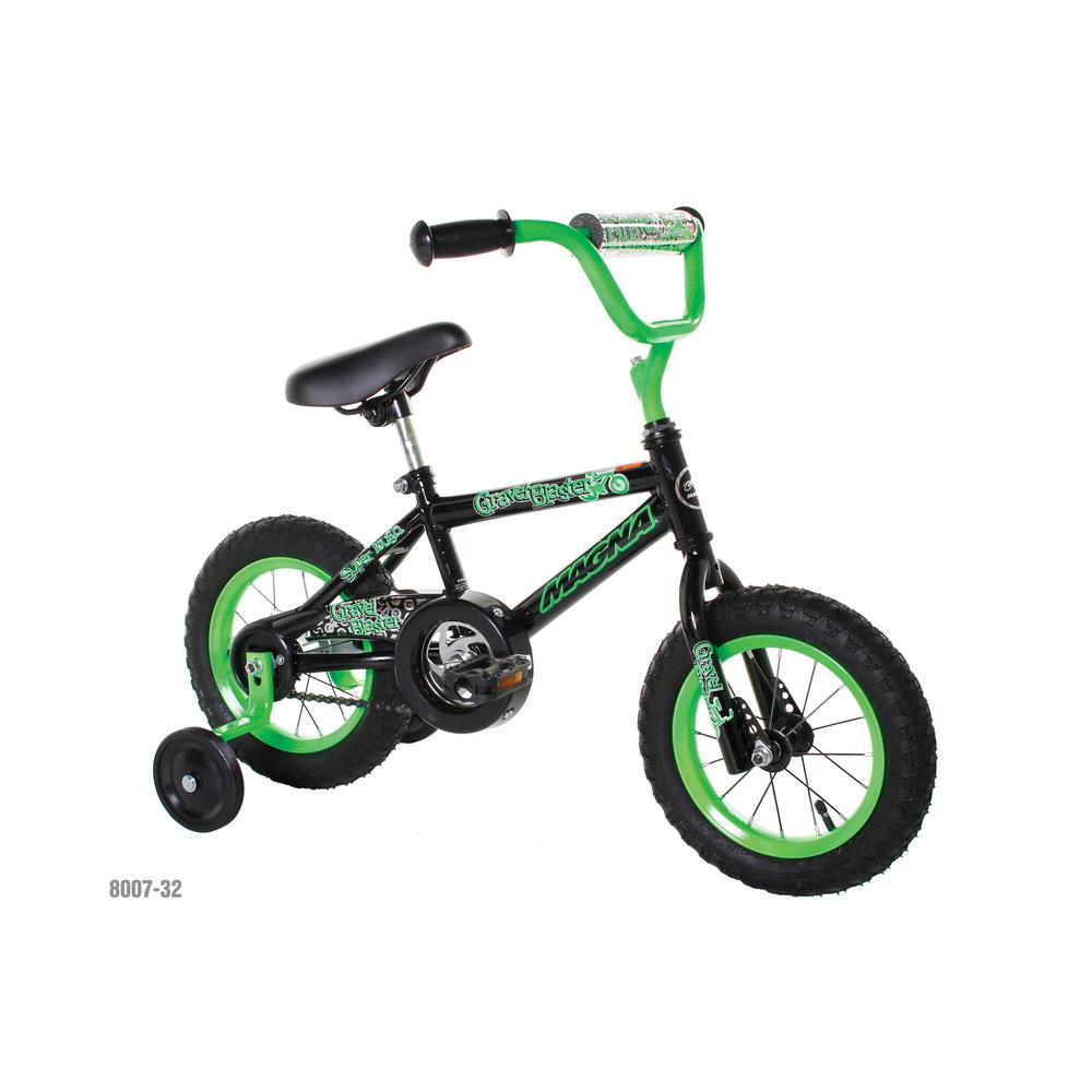 12 in. Kids Bike Magna Gravel Blaster, Greens