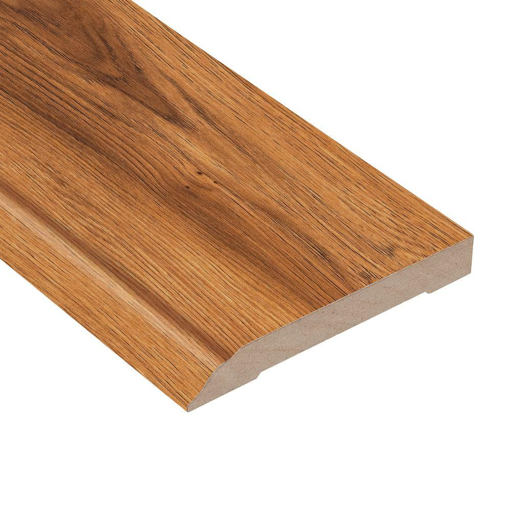 Home Legend Pacific Hickory 1/2 in. Thick x 3-13/16 in. Wide x 94 in. Length Laminate Wall Base Molding