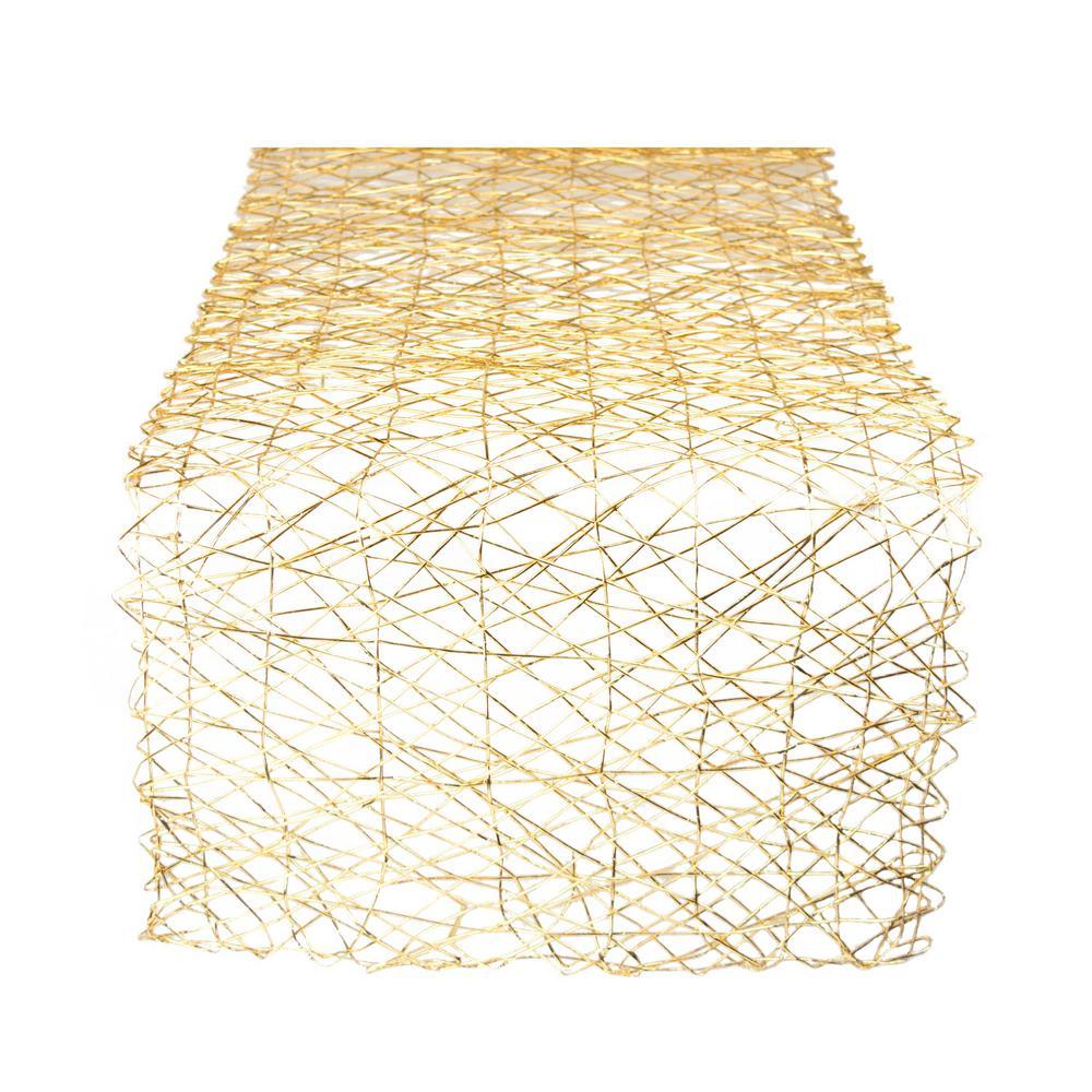 Gold Metallic Woven Paper Table Runner