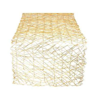 Gold Metallic Woven Paper Table Runner