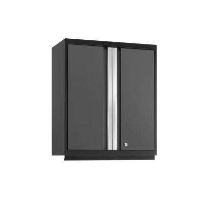 Pro 3.0 28 in. W x 33.75 in. H x 14 in. D Steel Garage Tall Wall Cabinet in Gray