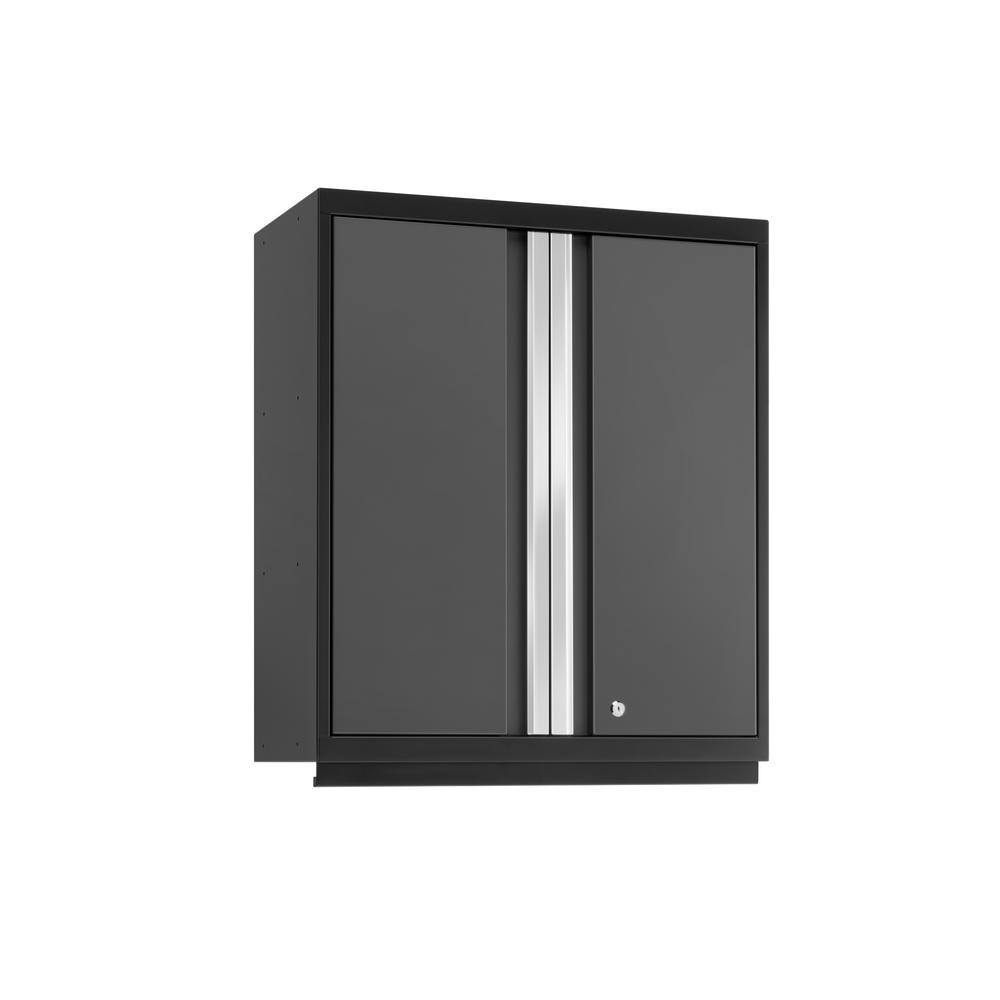 Pro 3.0 33.75 in. H x 28 in. W x 14 in. D Steel Garage Tall Wall Cabinet in Gray