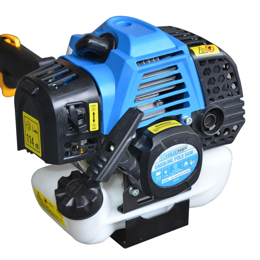 32.6cc 2-Cycle Auto-Safety Clutch Blue Max Gas Pole Saw Chainsaw Pruner 10 in