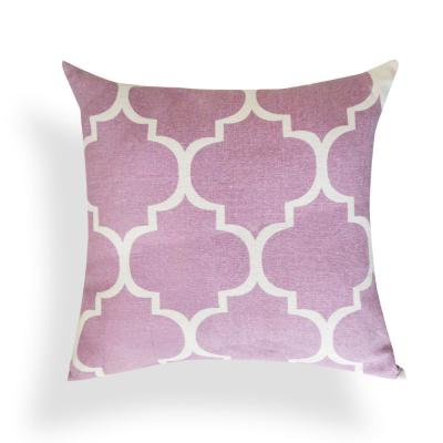 Purple Geometric Down Alternative 18 in. x 18 in. Throw Pillow