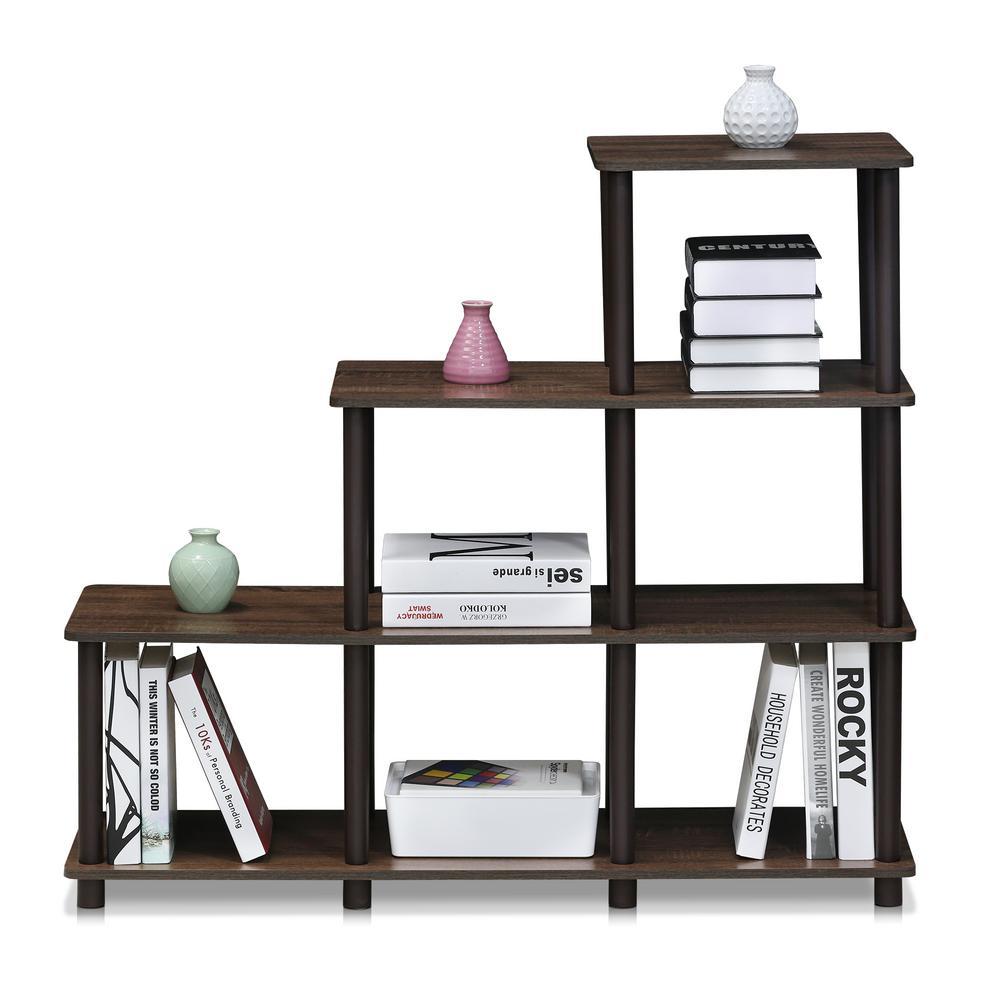Turn-N-Tube Walnut/Brown Ladder Space Shelf
