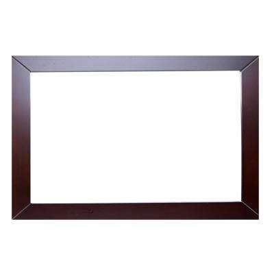 New York 48 in. W x 31 in. H Full Frame Wall Mounted Vanity Bathroom Mirror in Teak