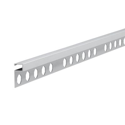 Novolistel 3 Matt Silver 3/8 in. x 98-1/2 in. Aluminum Tile Edging Trim
