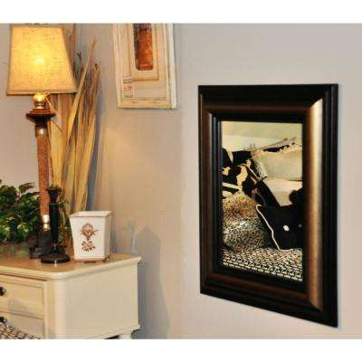 37 in. x 41 in. Stepped Antiqued Rounded Beveled Wall Mirror