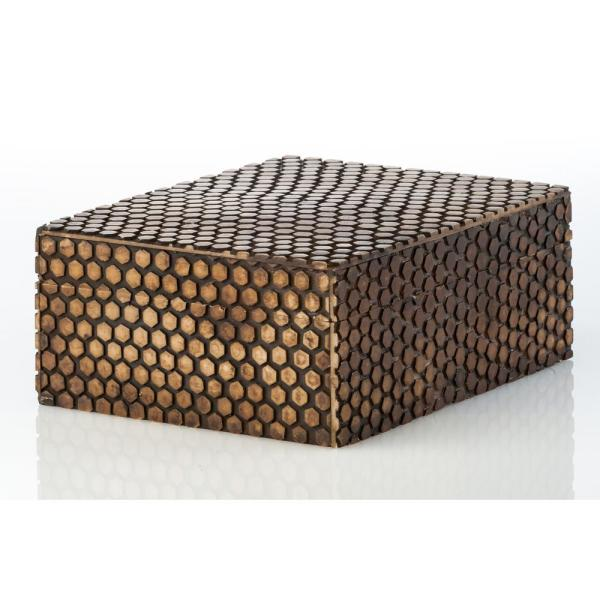 Abigails Faux Snake Skin Rectangle Wood Decorative Box 528040