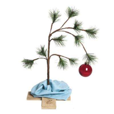 24 in. Unlit The Original Charlie Brown Artificial Christmas Tree Decoration