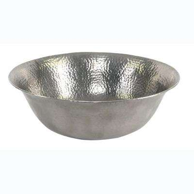 Vessel Sink in Hammered Pewter