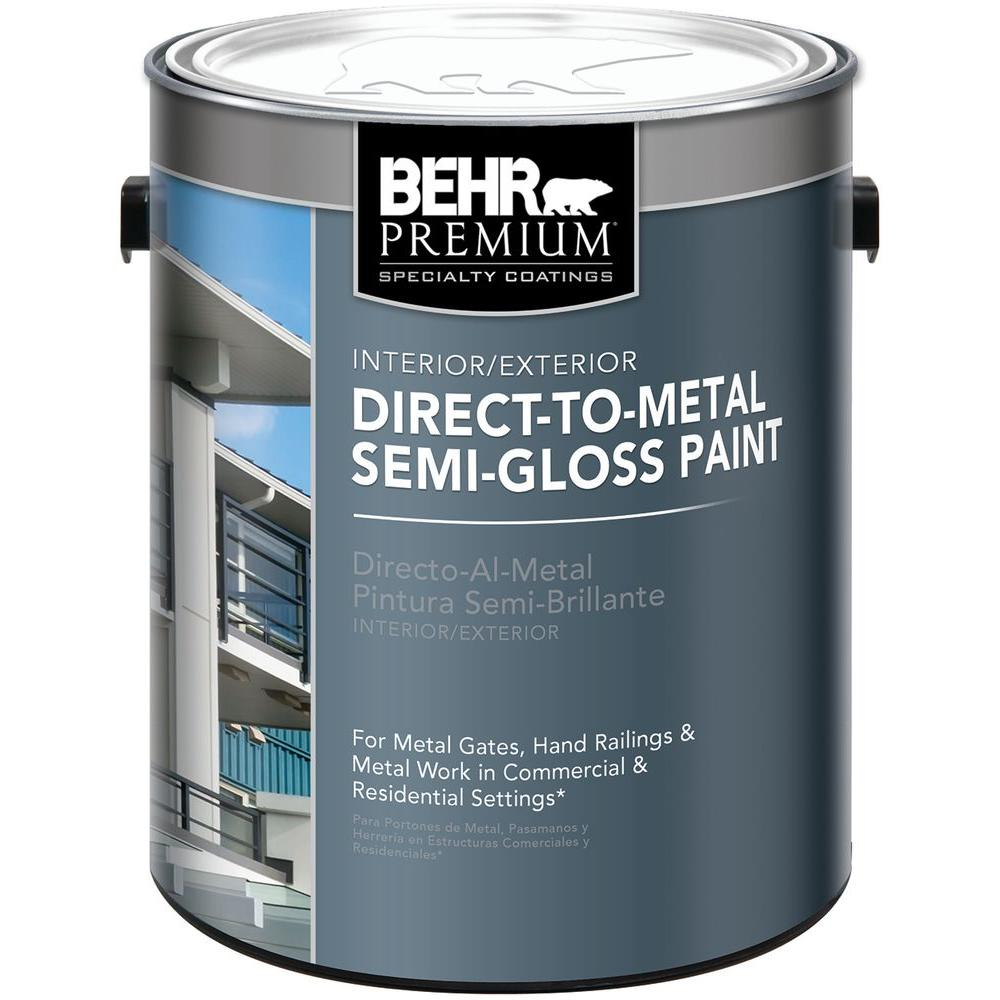 behr 1 gal deep base direct to metal semi gloss interior exterior paint 323001 the home depot. Black Bedroom Furniture Sets. Home Design Ideas