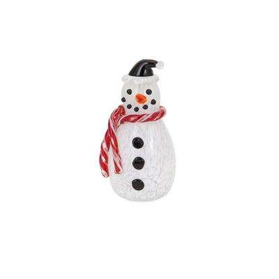 Frosty Small Non Light Glass Snowman - Frosty The Snowman - Outdoor Christmas Decorations - Christmas
