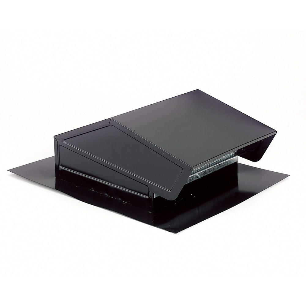 Broan Roof Cap with Built-In Damper for 6 in. Round Duct in Black