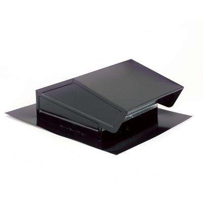 Roof Cap with Built-In Damper for 6 in. Round Duct in Black