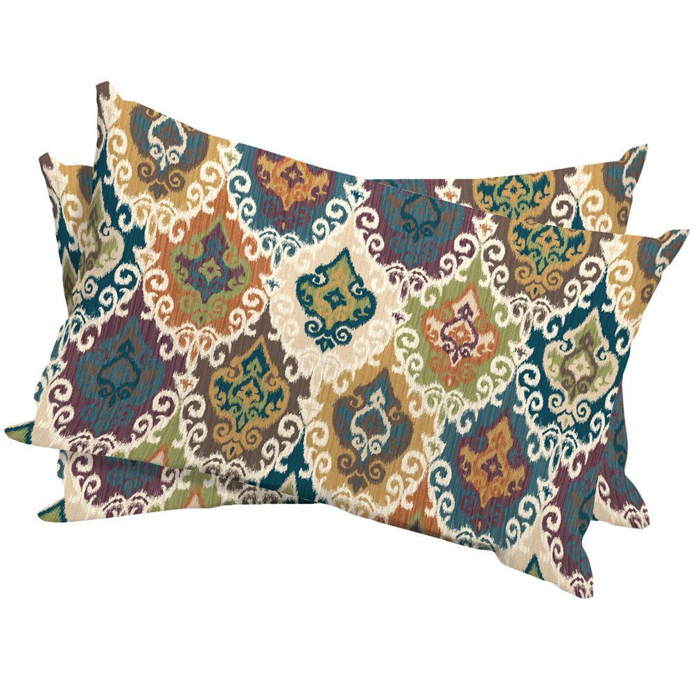 Arden Nazir Larkspur Outdoor Lumbar Pillow (2-Pack)-DISCONTINUED