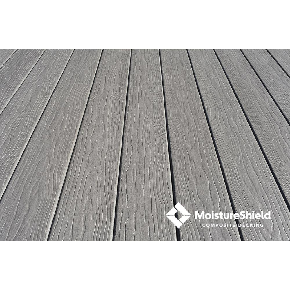 MoistureShield Vision 1 in. x 5.4 in. x 16 ft. CoolDeck Cathedral Stone Composite Groove Decking Board (10-pack)