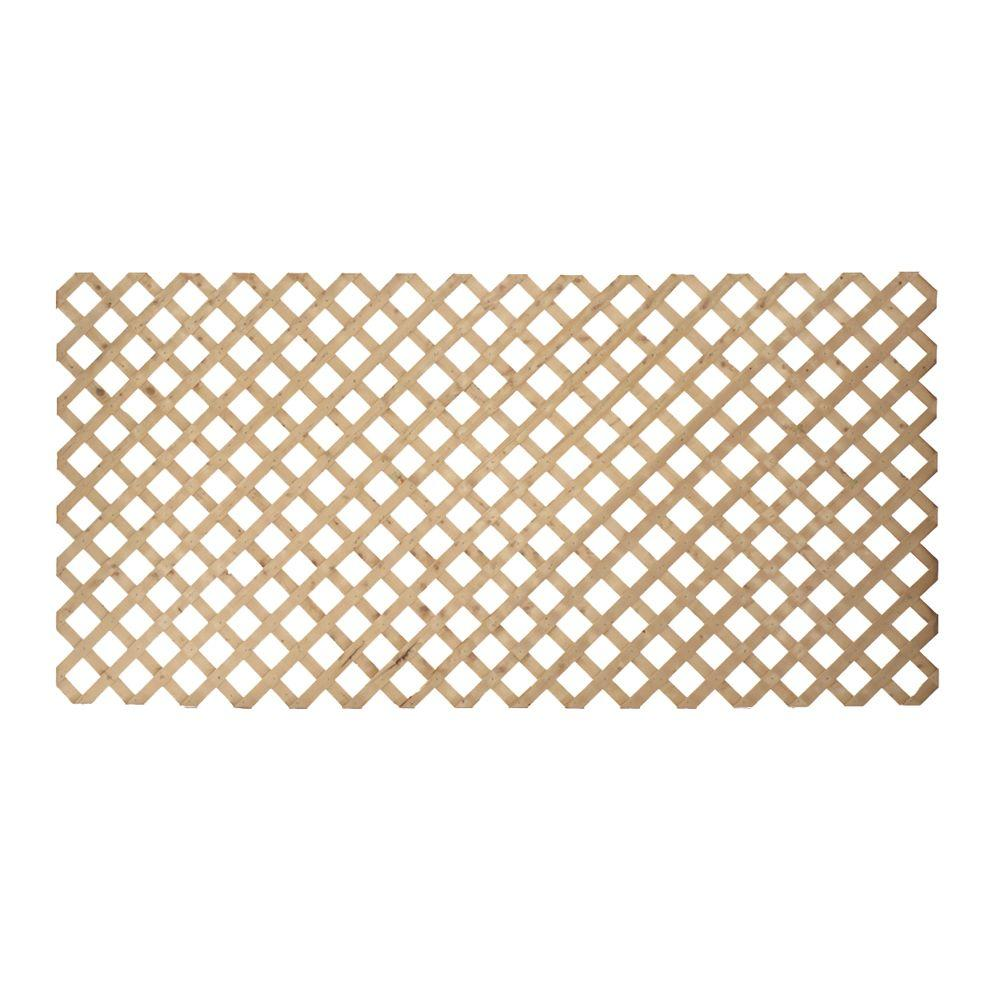 3/4 in. x 48 in. x 8 ft. Pressure-Treated Wood Lattice-106039 - The ...