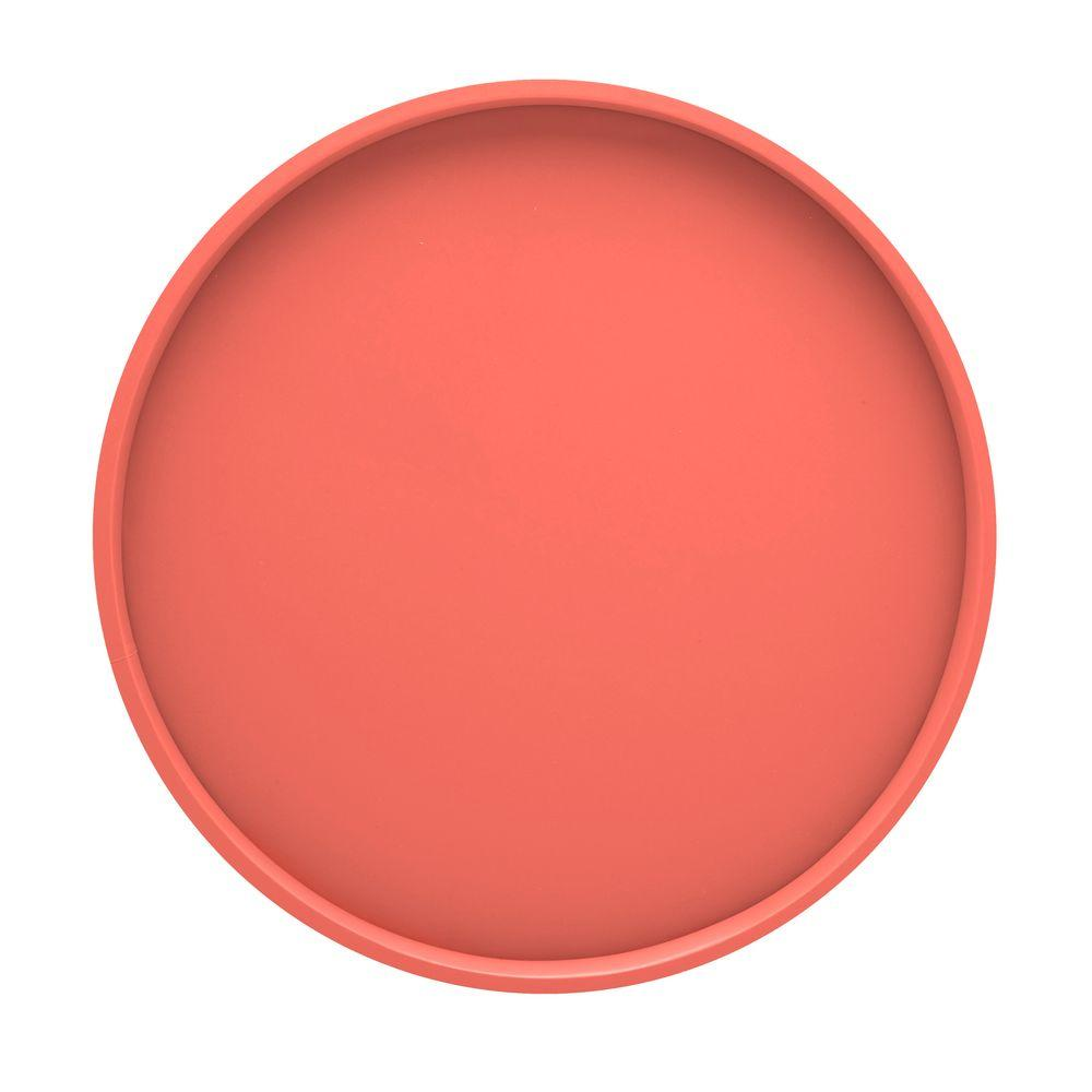 Kraftware 14 in. Round Serving Tray in Sweet Melon-DISCONTINUED
