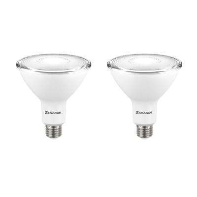90-Watt Equivalent PAR38 Dimmable Energy Star Flood LED Light Bulb Bright White (2-Pack)