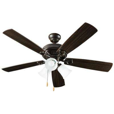 3-Light 42 in. Indoor Wood Brown Ceiling Fan With Light Kit