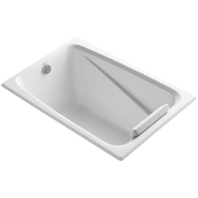 Greek 48 in. x 32 in. Acrylic Drop-In or Undermount Bathtub with Reversible Drain in White