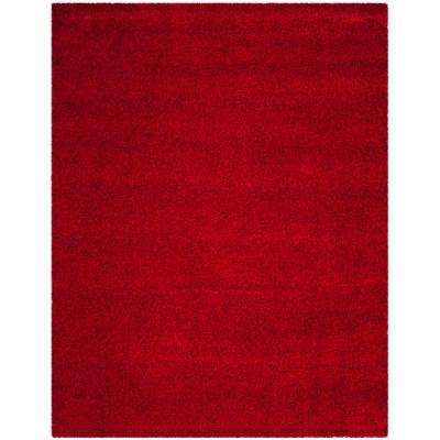 santa monica shag red 9 ft x 12 ft area rug