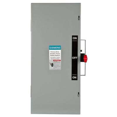 Double Throw 100 Amp 600-Volt 3-Pole Indoor Non-Fusible Safety Switch