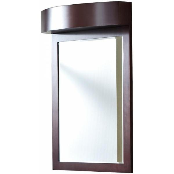 16-Gauge-Sinks 24 in. x 36 in. Single Framed Wall Mirror in Lacquer-Stain Coffee