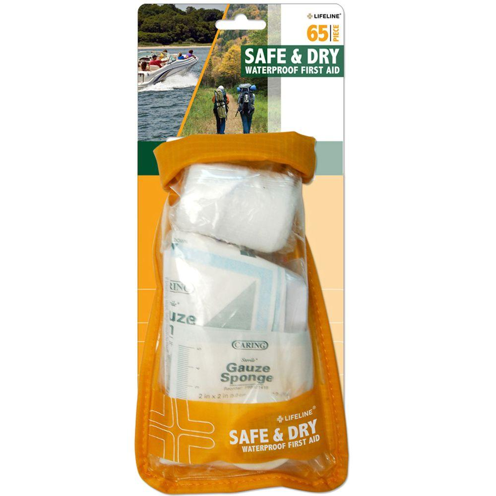 Lifeline 65-Piece Safe and Dry Waterproof First Aid Kit Dry Bag