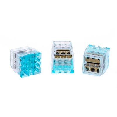 In-Sure Push-In Wire Connector, 6-Port Stacked (100 per Jar)
