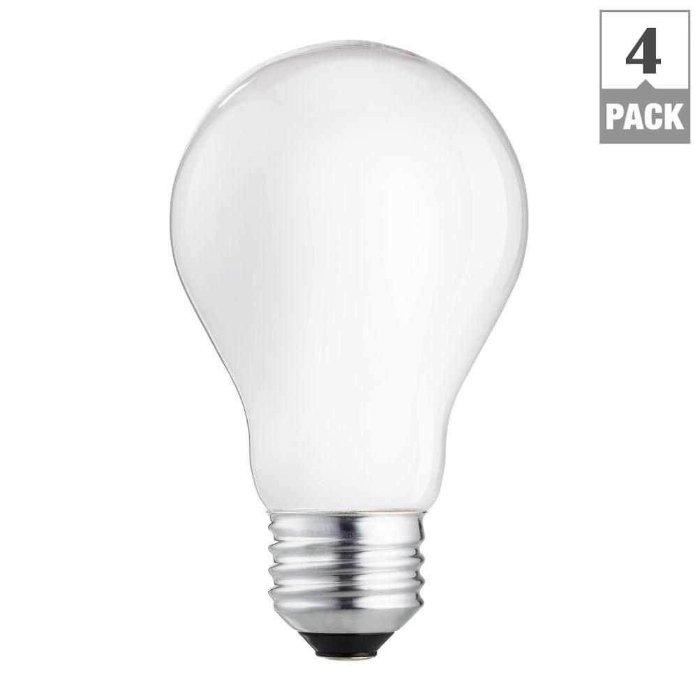 Garage Door Openers And Led Light Bulbs: Philips 60-Watt A19 Incandescent Garage Door Light Bulb (2