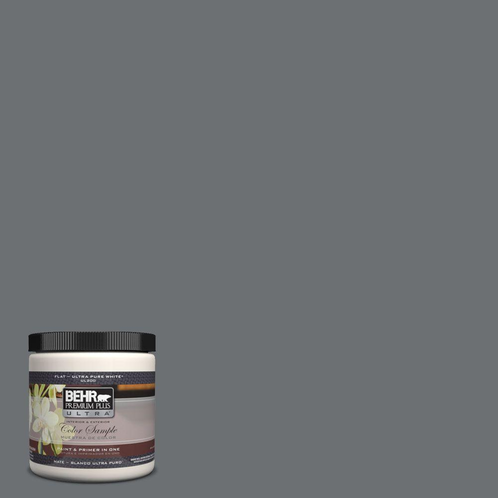 BEHR Premium Plus Ultra 8 oz. #UL260-21 Antique Tin Interior/Exterior Paint Sample