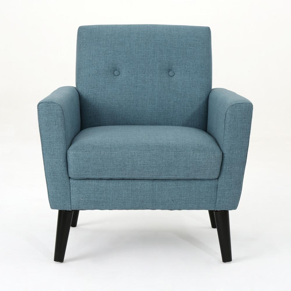 Noble House Sienna Mid-Century Modern Button Back Blue ...