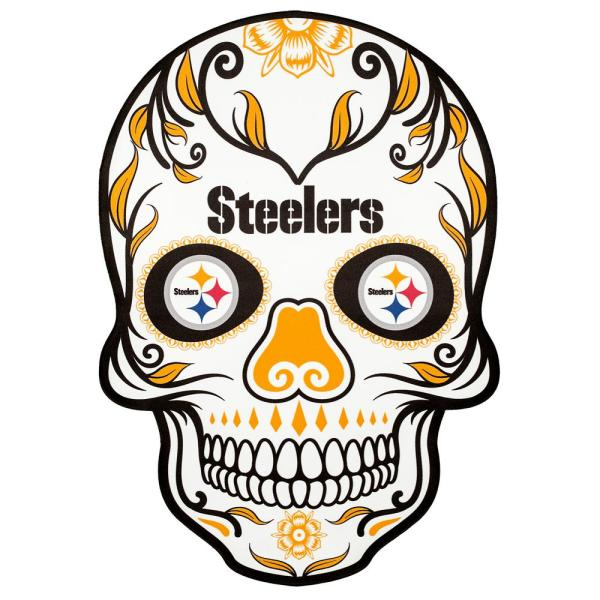 Applied Icon Nfl Pittsburgh Steelers Outdoor Skull Graphic Large Nfos2603 The Home Depot