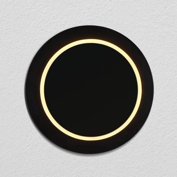 Eclipse 9.75 in. Black Integrated LED Sconce