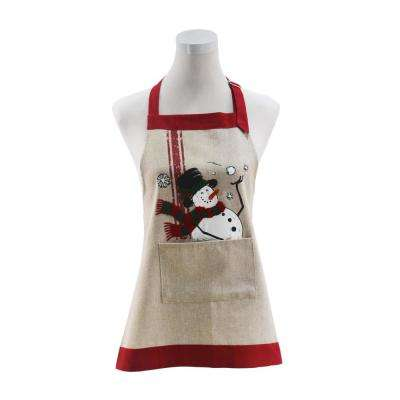 0.1 in. H x 26 in. W x 30 in. D Frosty Christmas Adult Apron