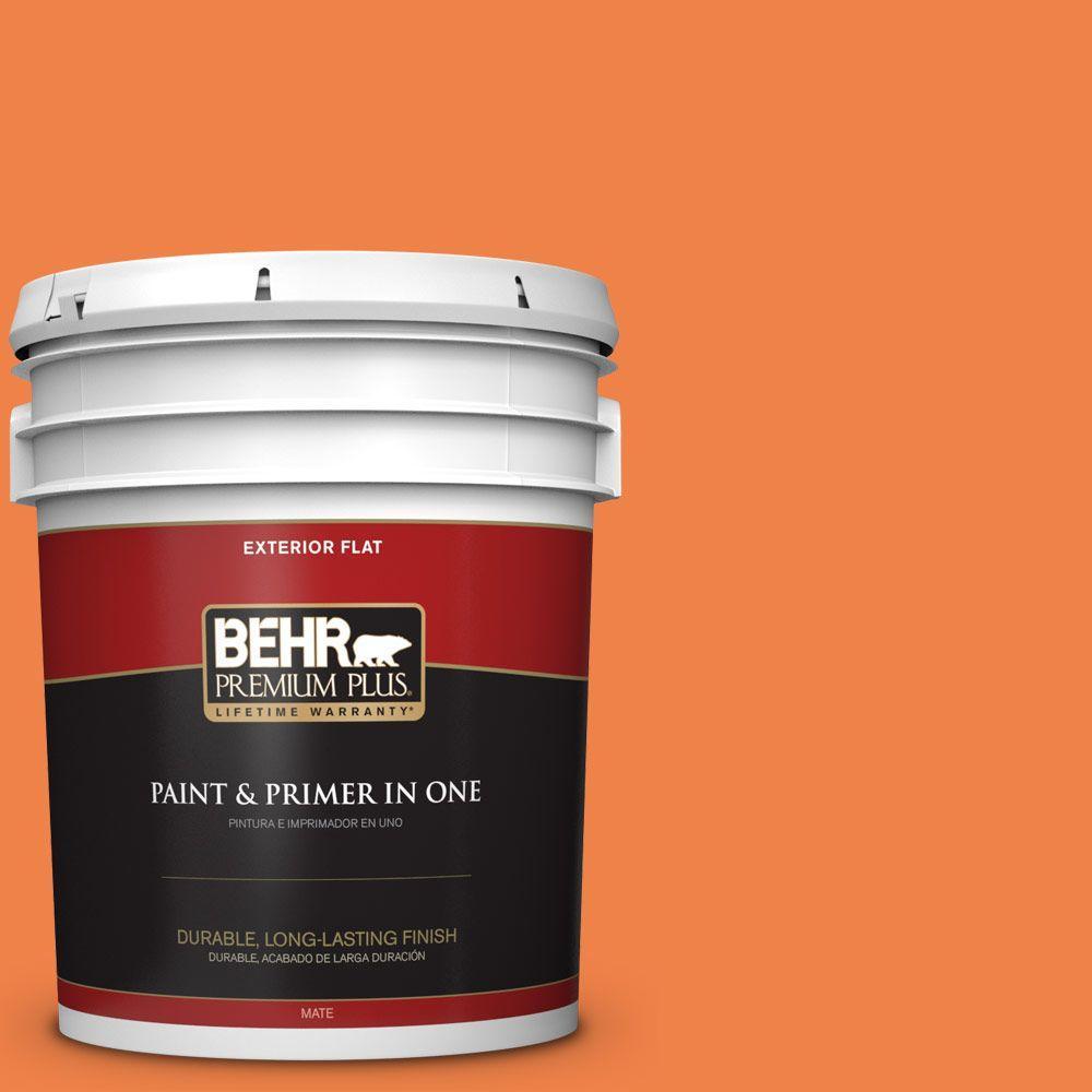 5-gal. #240B-6 Orange Zest Flat Exterior Paint