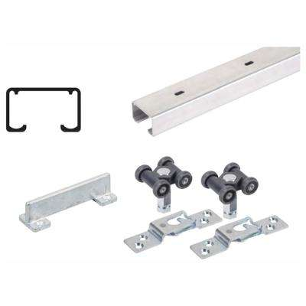 48 in. Grant 150E Single Economy Door Hardware and Track