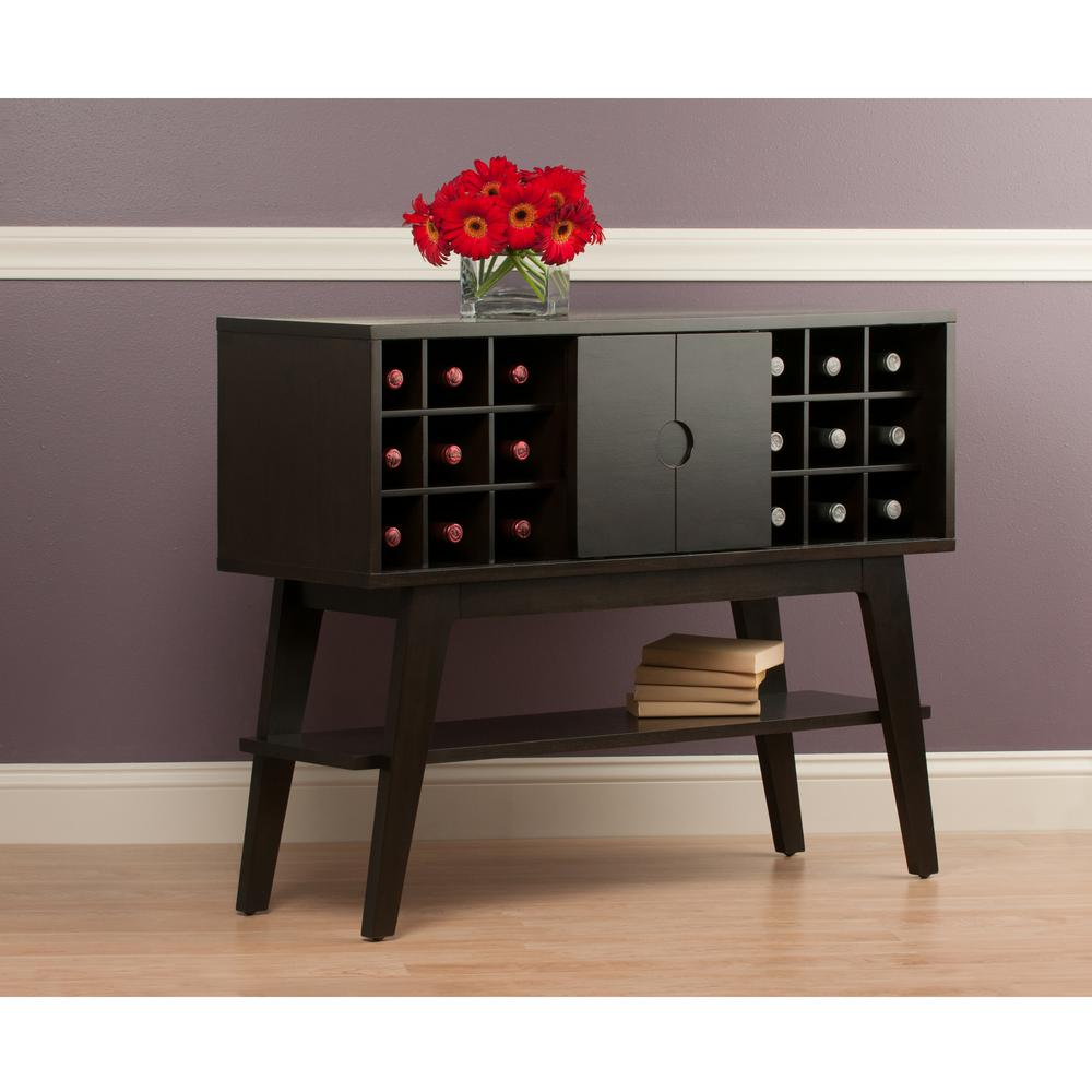 Winsome Wood Monty Smoke Console Table