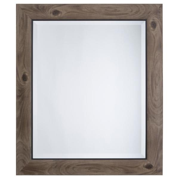 Home Decor Trim: Yosemite Home Decor Mirror With Frame In Gray Wood With
