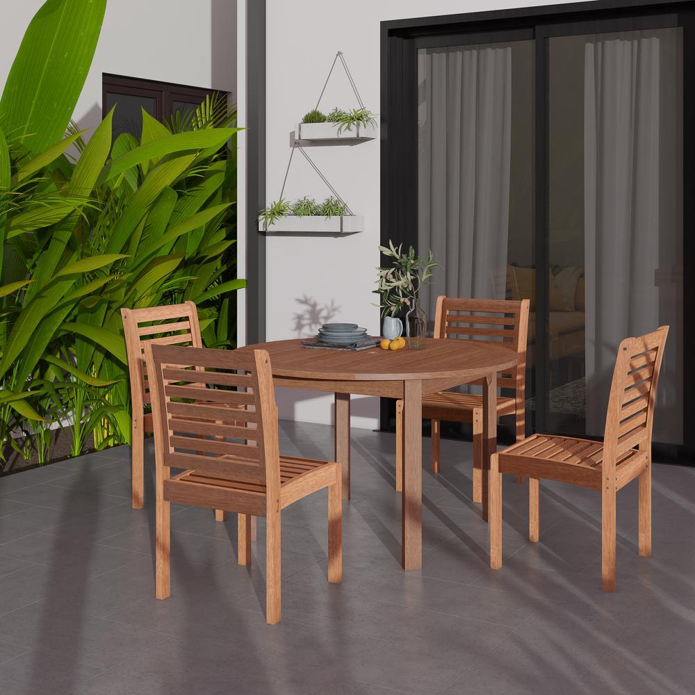 Eucalyptus 5-Piece Patio Dining Set
