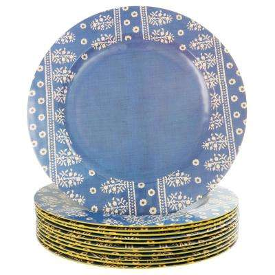 Zoey Cobalt Blue Melamine Dinner Plate (Set of 12)