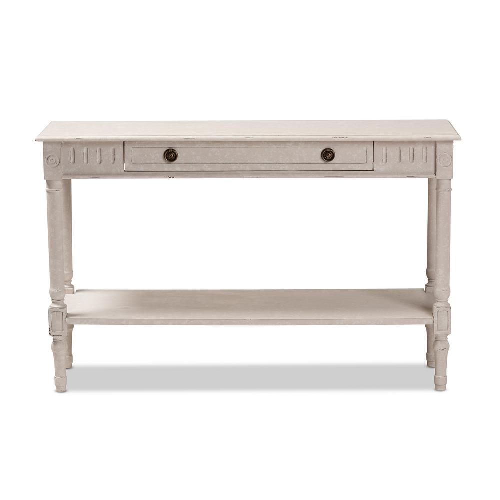 Baxton Studio Ariella Whitewashed Console Table