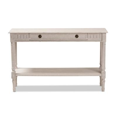 Ariella Whitewashed Console Table