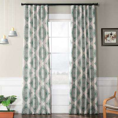 Henna Clover Green Blackout Curtain - 50 in. W x 120 in. L