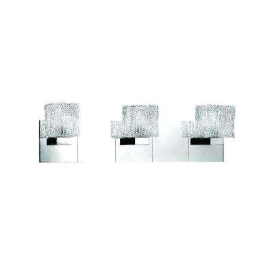Rain Collection 3-Light Chrome Wall Bath Bar Sconce