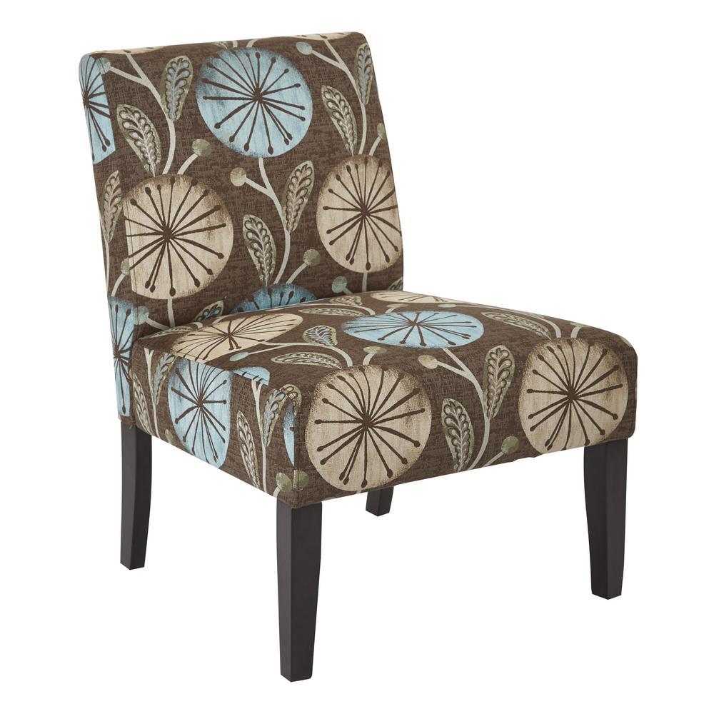 Laguna Fabric Chair in Dandelion Aqua fabric