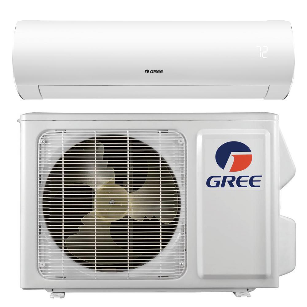 Sapphire 12000 BTU 1-Ton Ductless Mini Split Air Conditioner with Inverter Heat Remote 208-Volt to 230-Volt/60Hz