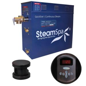 SteamSpa Oasis 4.5kW Steam Bath Generator Package in Oil Rubbed Bronze by SteamSpa